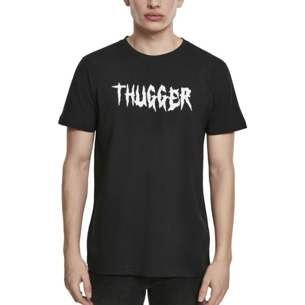 Merchcode Shirt - THUGGER Childrose schwarz