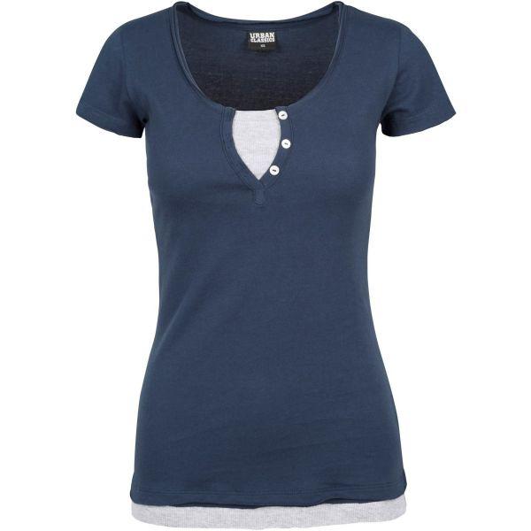 Urban Classics Ladies - Two-Colored 2by2 Rib Top Shirt