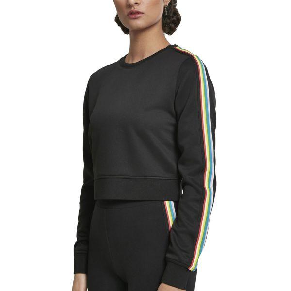 Urban Classics Ladies - Multicolor Taped Pullover Crewneck
