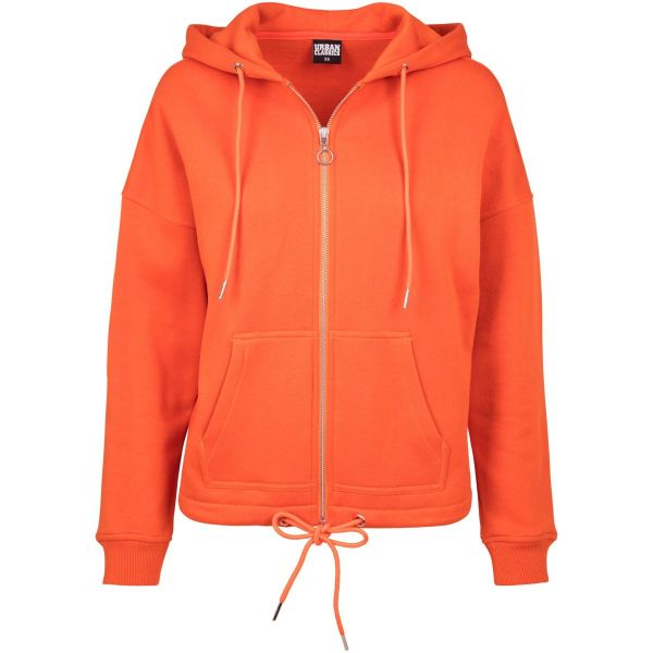 Urban Classics Ladies - KIMONO Zip Hoody Fleece Sweater