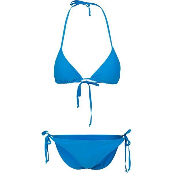 Urban Classics Ladies - Knot Triangle Bikini bleu
