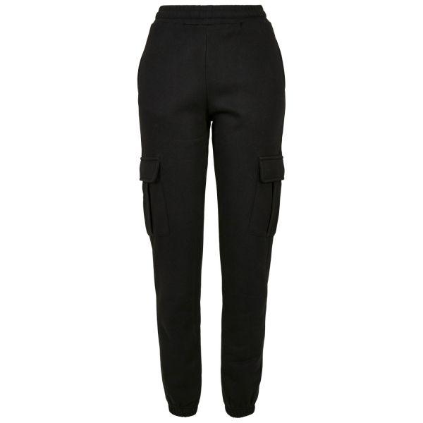 Urban Classics Ladies - High Waist Cargo Fleece Sweatpants