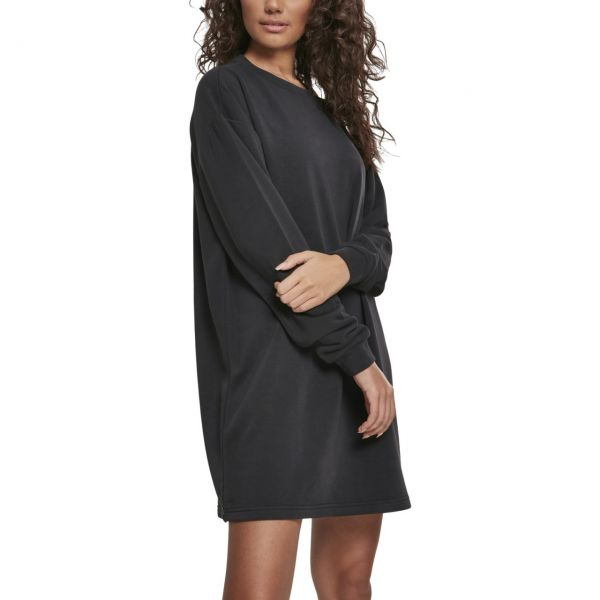 Urban Classics Ladies - MODAL Terry Crew Kleid schwarz