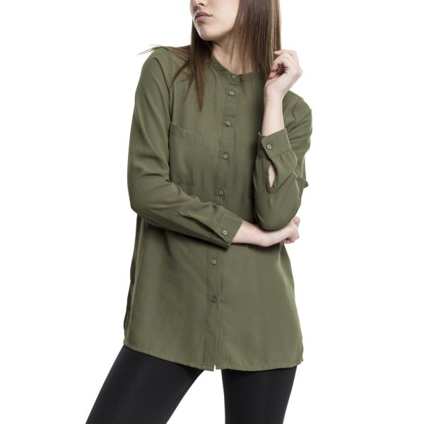 Urban Classics Ladies - HILO Chiffon Long Bluse Hemd Shirt