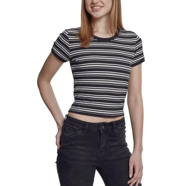 Urban Classics Ladies - Yarn Rib Short Top Shirt