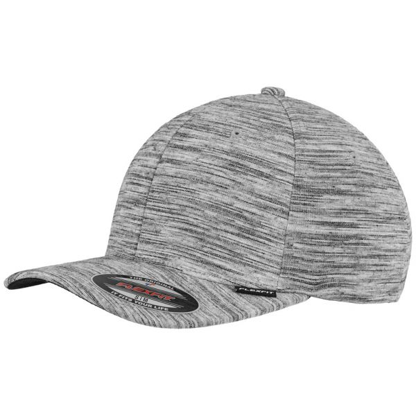 Flexfit Stripes Melange Cap - grau