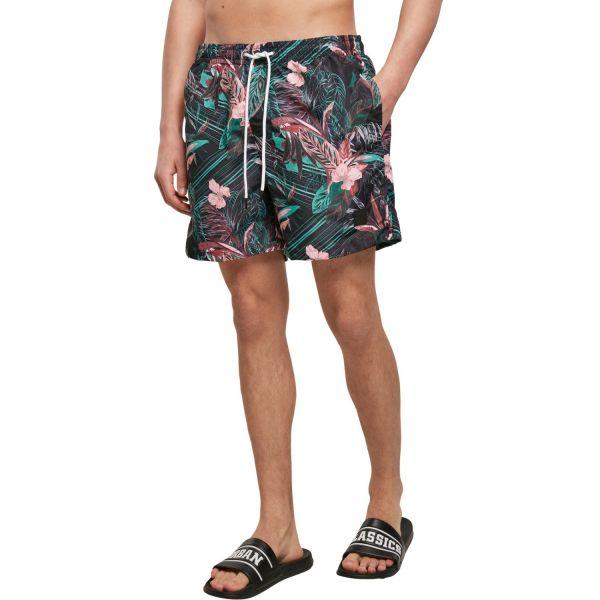 Urban Classics - PATTERN Hawaii Sommer Badeshorts