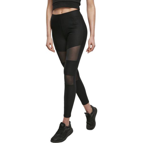 Urban Classics Ladies - TECH MESH Rib Fitness Leggings