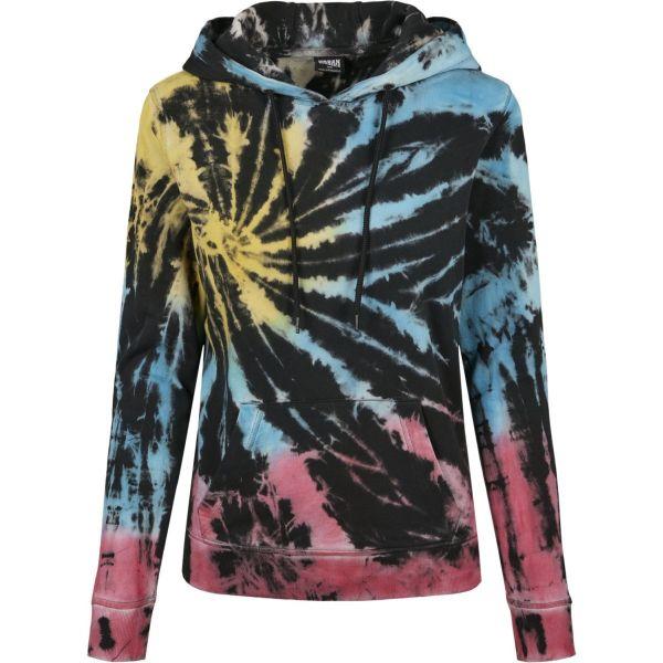 Urban Classics Ladies - Tie Dye Hoody mehrfarbig