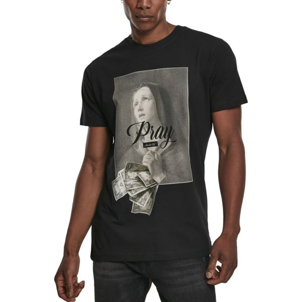 Mister Tee Shirt - PRAY DOLLAR noir