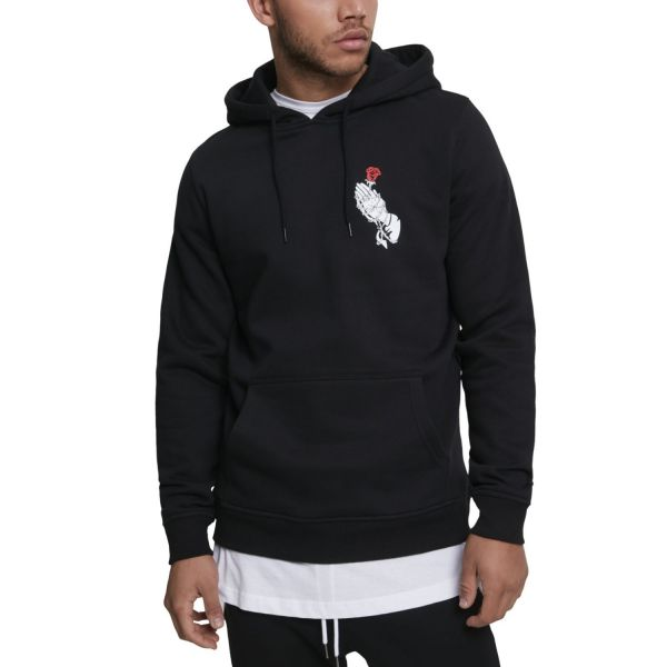 Mister Tee Fleece Hoody - HAND ROSE noir