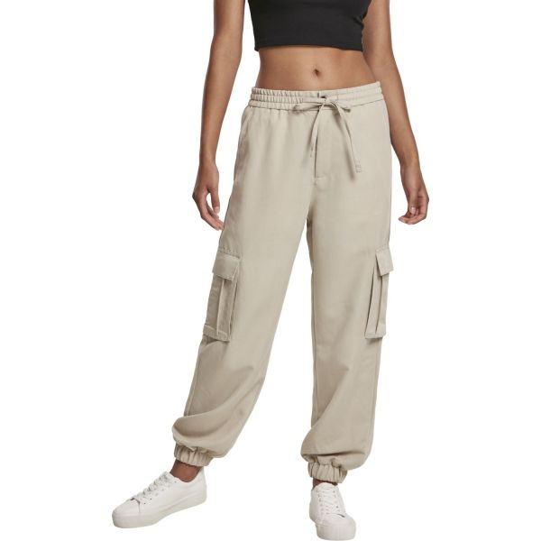 Urban Classics Ladies - CARGO Loose-Fit Twill Sweatpants