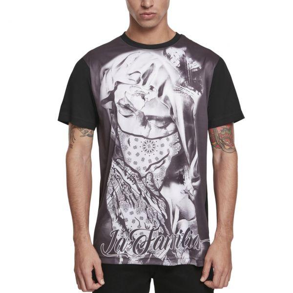 Mister Tee Shirt - La Familia Sublimation schwarz