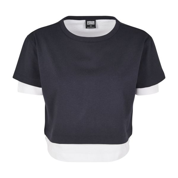 Urban Classics Ladies - Double Layered Short Cropped Top