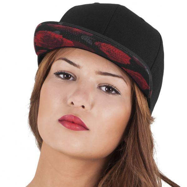 Flexfit ROSES Snapback Cap - black / red