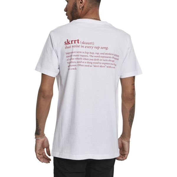 Mister Tee Shirt - SKRRT That Noise weiß