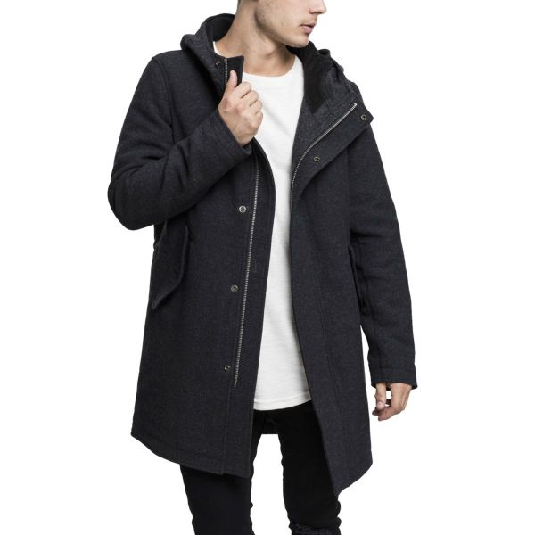 Urban Classics - Hooded Structured Parka charcoal