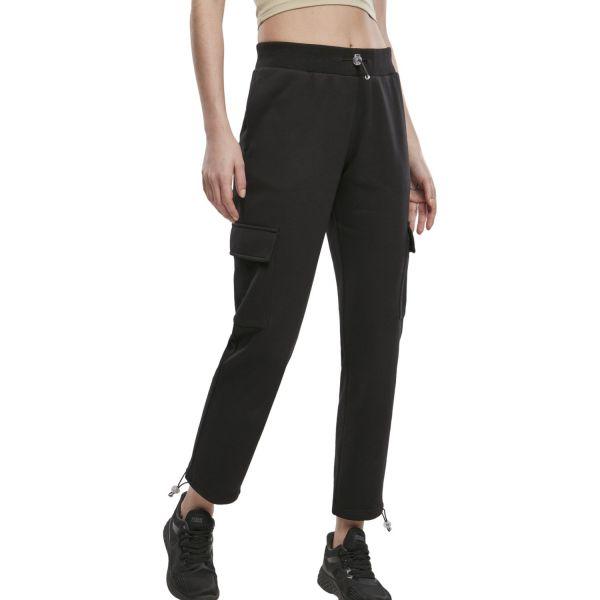 Urban Classics Ladies - Cargo Terry Sweatpants schwarz