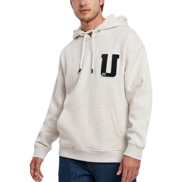 Urban Classics - Oversized Frottee Patch Hoody hellgrau