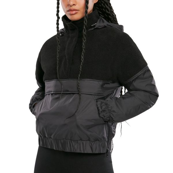 Urban Classics Ladies - Sherpa Mix Pull Over Jacket