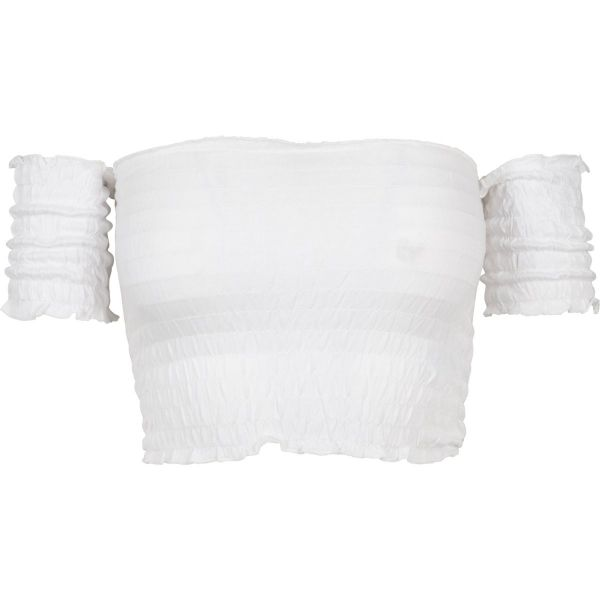 Urban Classics Ladies - Cropped Cold Shoulder Smoke Top