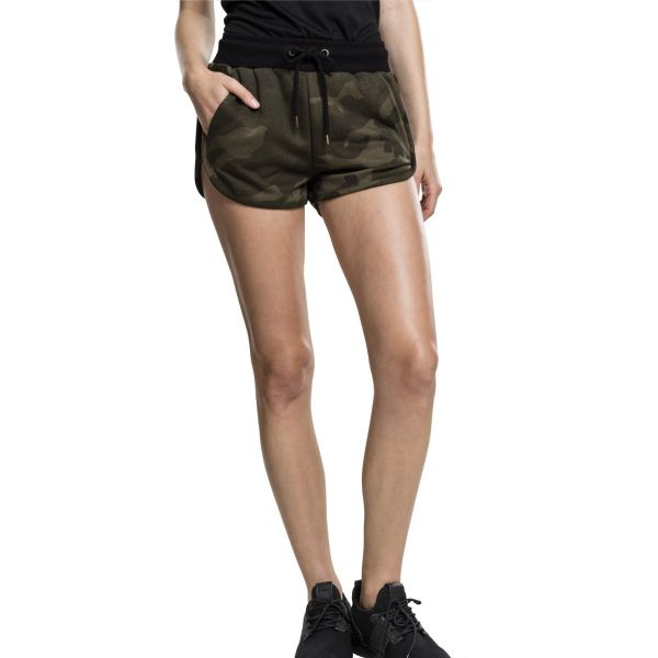 Urban Classics Ladies - Hotpants dark camo
