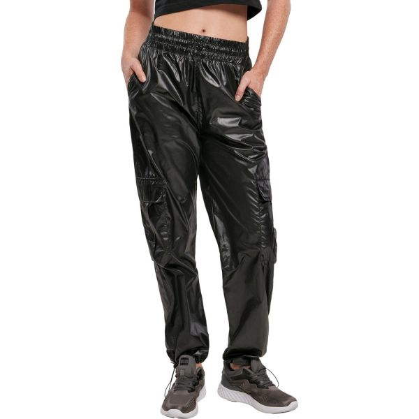 Urban Classics Ladies - Shiny Cargo Track Pants Hose