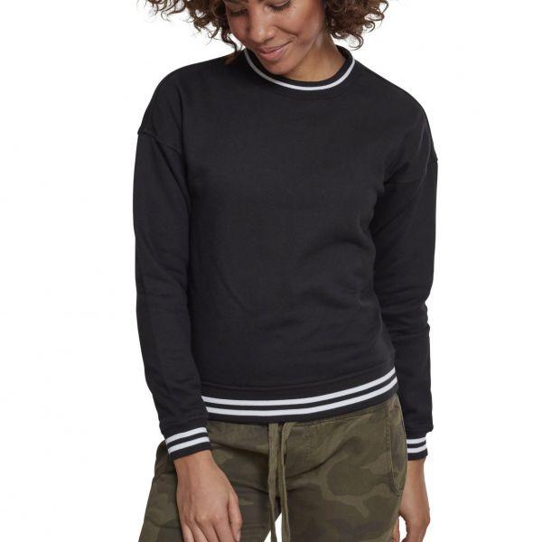 Urban Classics Ladies - COLLEGE Fleece Pullover schwarz