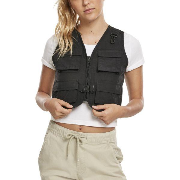 Urban Classics Ladies - Short Tactical Weste schwarz