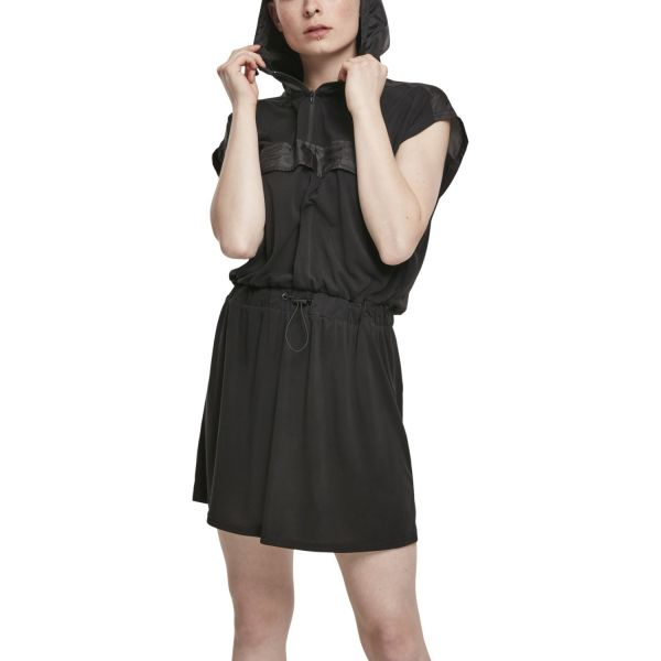 Urban Classics Ladies - MODAL Hoody Kleid schwarz