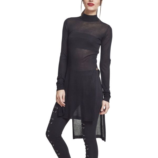 Urban Classics Ladies - Fine Knit Strick Long Shirt