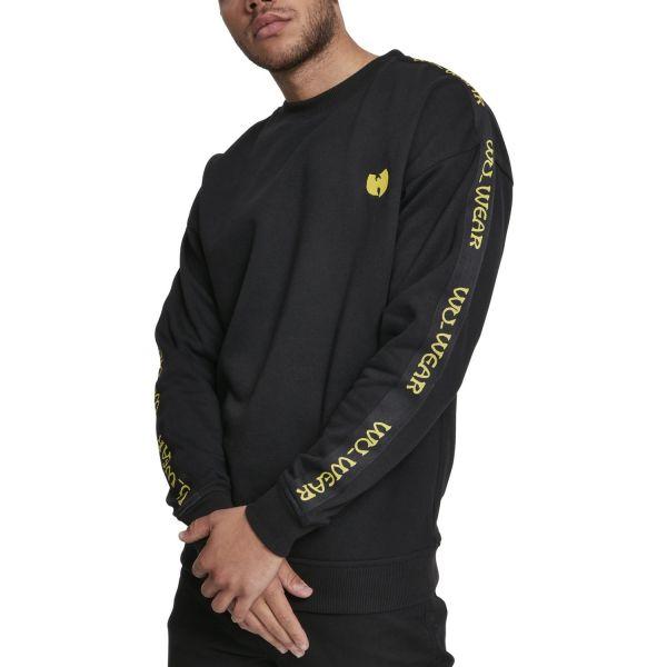 Wu-Wear Hip Hop Pullover - Embroidery Crewneck noir