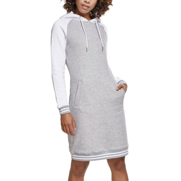 Urban Classics Ladies - Contrast College Hooded Kleid