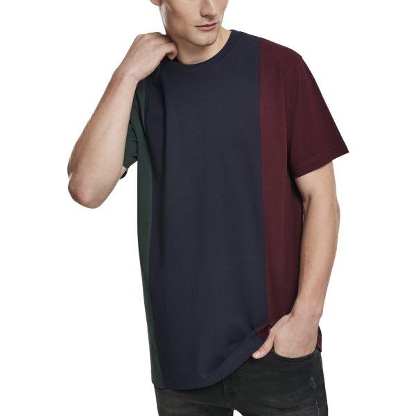 Urban Classics - TRIPPLE Stripe Shirt bottlegreen / navy