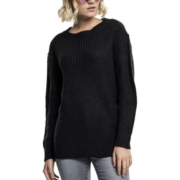 Urban Classics Ladies - Basic Crew Sweater schwarz