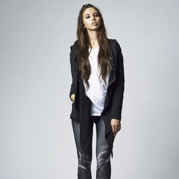 Urban Classics Ladies - Hooded Sweat Long Cardigan Jacke