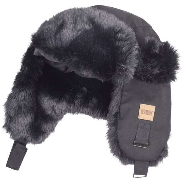 Urban Classics - TRAPPER Dog Ear Wintermütze schwarz