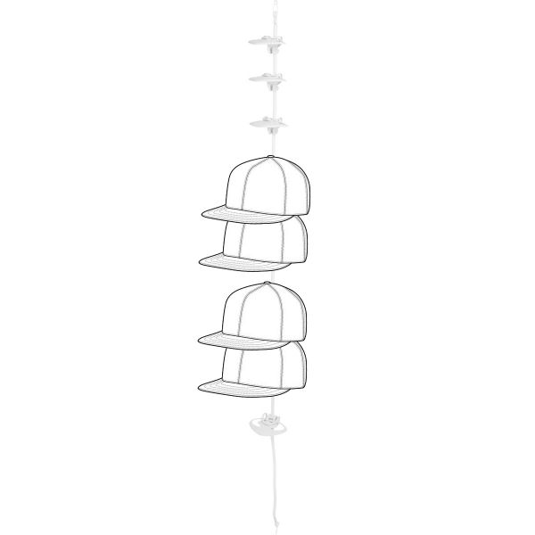 Flexfit CapRack Kappenhalter mit 10 Clips für bis zu 30 Caps