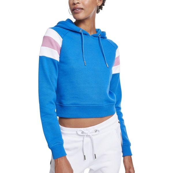 Urban Classics Ladies - Sleeve Stripe Short Hoody