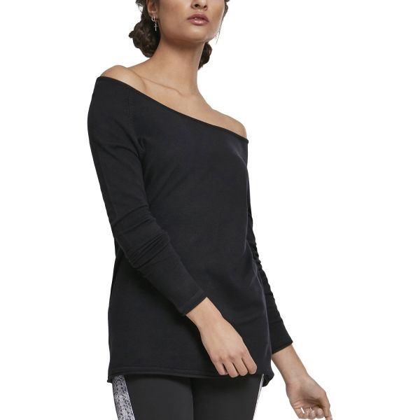 Urban Classics Ladies - RAGLAN Long Sweater schwarz
