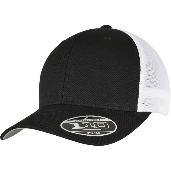Flexfit 110 Trucker Mesh Snapback Cap - navy / white