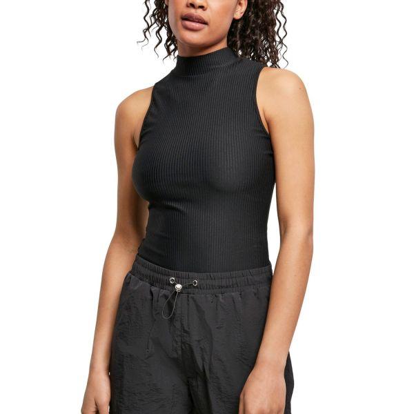 Urban Classics Ladies - Rib Turtleneck Body schwarz