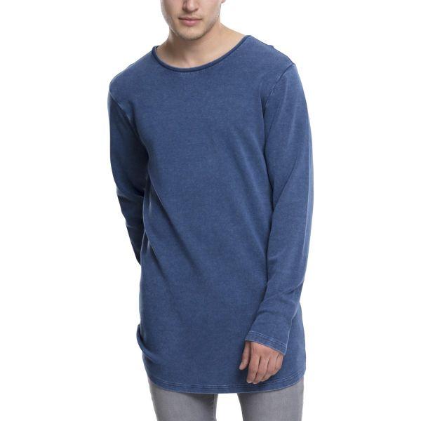 Urban Classics - Acid Washed Longsleeve Shirt extra lang
