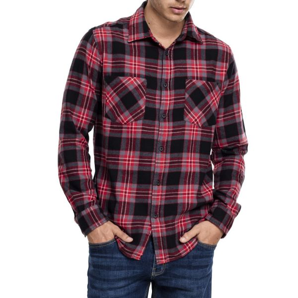 Urban Classics - CHECKED FLANELL Holzfäller Hemd