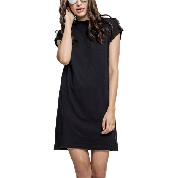 Urban Classics Ladies - Turtle Extended Shoulder Dress papay