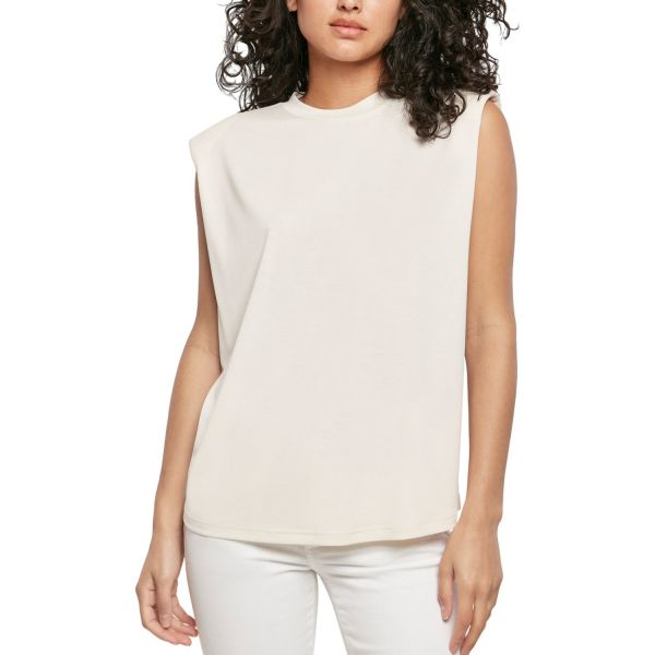 Urban Classics Ladies - Modal Padded Shoulder Shirt