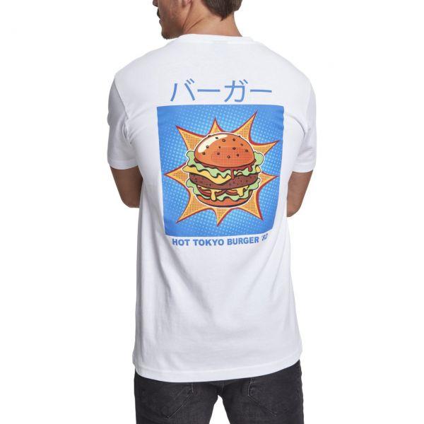 Mister Tee Shirt - TOKYO BURGER weiß