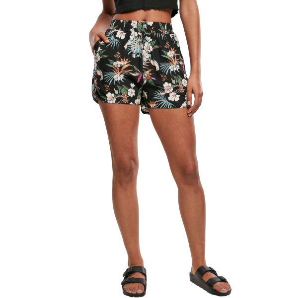 Urban Classics Ladies - RESORT Pattern Sommer Shorts