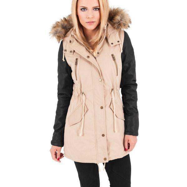 Urban Classics Ladies - Faux Cuir PARKA Vest olive