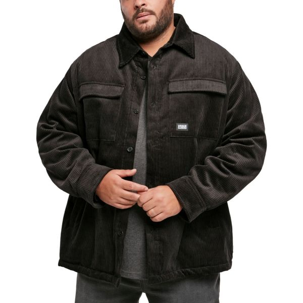 Urban Classics - Corduroy Shirt Jacket black